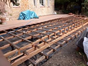 Montage d'une terrasse bois