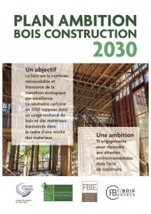"""Première page du document de 16 pages """"Plan ambition bois construction 2030"""""""