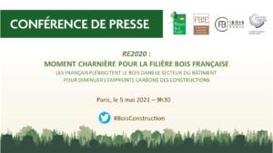 Invitation pour assister à la conférence de presse de la filière bois construction