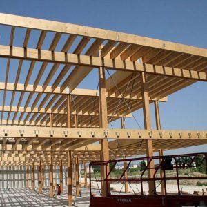 Construction bois avec poutres en i