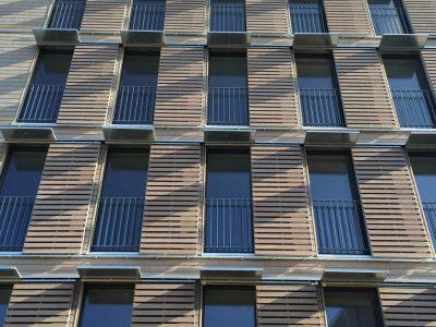 Immeuble de logements collectifs sociaux et locaux d'activité passifs à R+5 tout bois