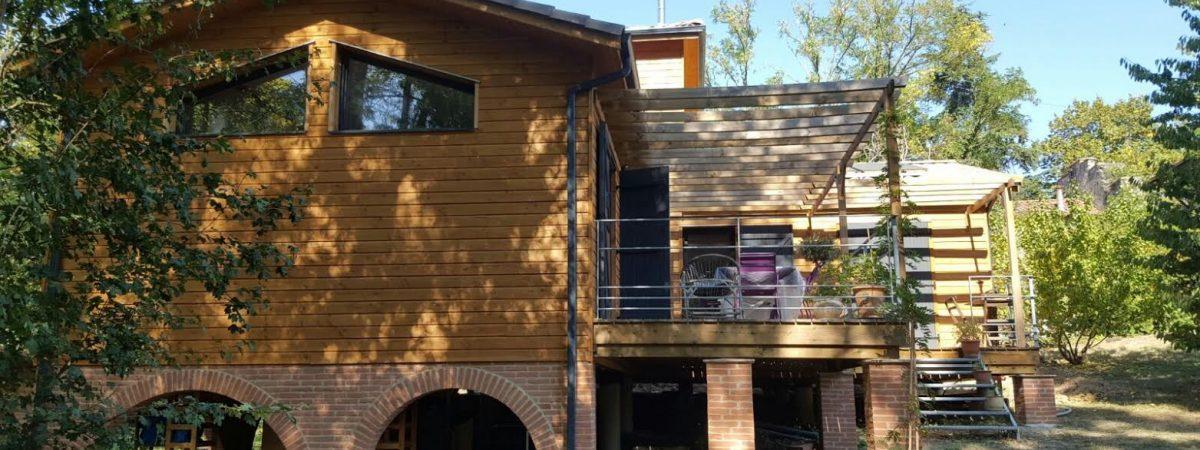 Maison individuelle en bois à Loubens Lauragais (Haute-Garonne) par AMIBOIS
